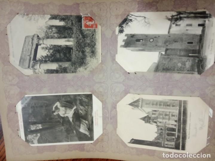 Sellos: ANTIGUO ALBUM CON 490 TARJETAS POSTALES FRANCIA. - Foto 80 - 226376160