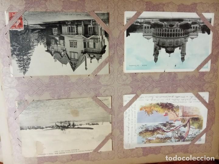 Sellos: ANTIGUO ALBUM CON 490 TARJETAS POSTALES FRANCIA. - Foto 89 - 226376160