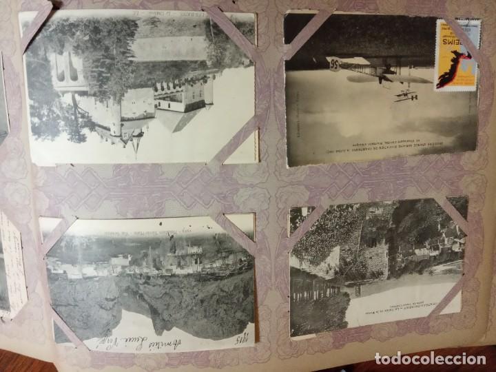 Sellos: ANTIGUO ALBUM CON 490 TARJETAS POSTALES FRANCIA. - Foto 91 - 226376160