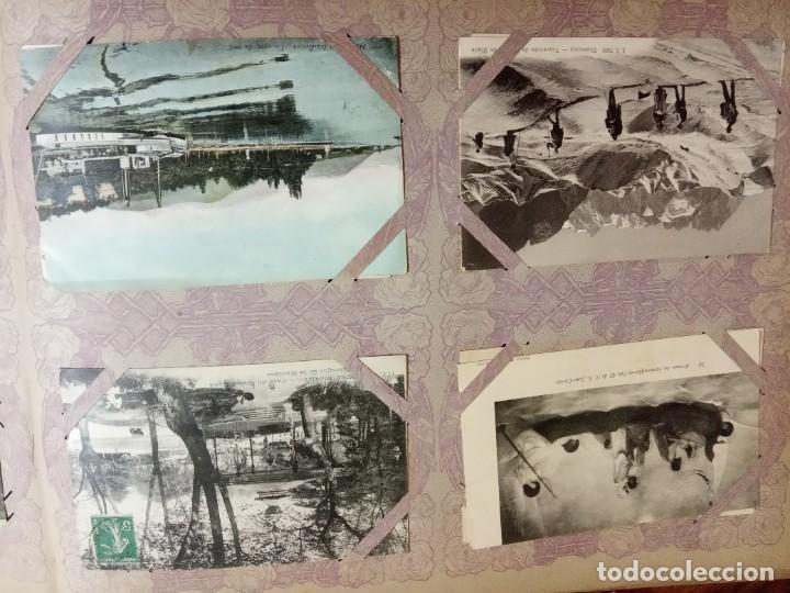 Sellos: ANTIGUO ALBUM CON 490 TARJETAS POSTALES FRANCIA. - Foto 95 - 226376160