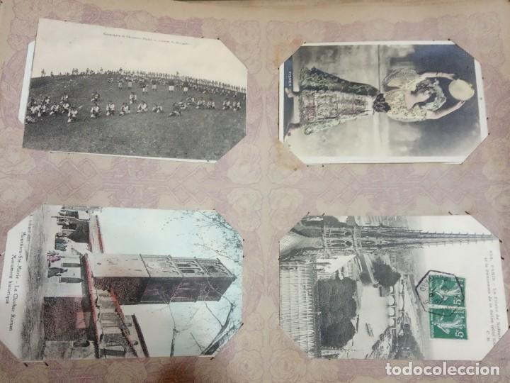 Sellos: ANTIGUO ALBUM CON 490 TARJETAS POSTALES FRANCIA. - Foto 118 - 226376160