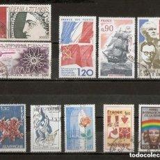 Sellos: FRANCIA.1975 YV. Nº 1833,1844,1847,1848,1850,1851,1853,1857,1859,1862.. Lote 227157047