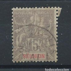 Sellos: RÉUNION N°48 OBL (FU) 1900 - TYPE GROUPE. Lote 228237905