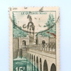 Sellos: SELLO POSTAL FRANCIA 1957, 15 ₣ , LE QUESNOY (NORTE), USADO. Lote 230930100