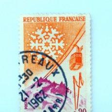 Sellos: SELLO POSTAL FRANCIA 1961, 0,20 ₣ , LE MONT-DORE, USADO. Lote 230999960