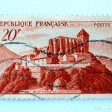 Sellos: SELLO POSTAL FRANCIA 1949, 20 ₣ , SAINT-BERTRAND DE COMMINGUES, USADO. Lote 231005670
