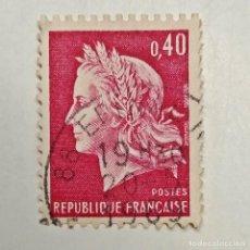 Sellos: FRANCIA. SELLO USADO DE 0.40, 1969. REPUBLIQUE FRANÇAISE. ENVÍO GRATIS POR PEDIDOS DE 3€ O MÁS. Lote 231018925