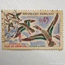 Sellos: FRANCIA. SELLO USADO DE 0,45 FR, DE 1960. SARCELLE. ENVÍO GRATIS POR PEDIDOS DE 3€ O MÁS.. Lote 231022330