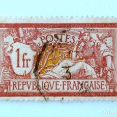 Sellos: SELLO POSTAL FRANCIA 1900,1 F , ALEGORÍA , TIPO MERSON, USADO. Lote 231428980