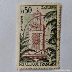 Sellos: FRANCIA. SELLO USADO DE 0.50 FR, 1960, TLEMCEN. ENVÍO GRATIS POR PEDIDOS DE 3€ Ó MÁS.. Lote 232460620