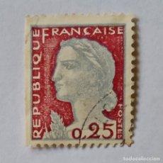 Sellos: FRANCIA. SELLO USADO DE 0.25 FR, AÑO 1960. MARIANNE TYPE. ENVÍO GRATIS POR PEDIDOS DE 3€ Ó MÁS.. Lote 232463740