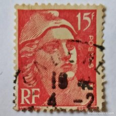 Sellos: FRANCIA. SELLO USADO DE 15 FR, AÑO 1949. NEW DAILY STAMP. ENVÍO GRATIS POR PEDIDOS DE 3€ Ó MÁS.. Lote 232464985