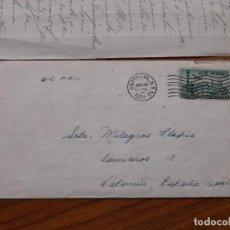 Sellos: CARTA BROOKLYN-VALENCIA 1954. Lote 234043380