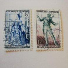 Sellos: REPUBLICA FRANCESA AÑO 1953 YT 956 Y 57. Lote 235262970