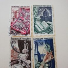 Sellos: REPUBLICA FRANCESA AÑO 1954 YT 970-71-72 Y 73. Lote 235263655