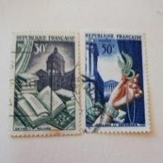 Sellos: REPUBLICA FRANCESA AÑO 1954 YT 971 Y 73. Lote 235263905