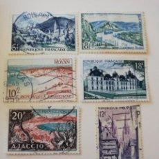 Sellos: REPUBLICA FRANCESA AÑO 1954 YT 976-77-78-79-80 Y 81. Lote 235264300