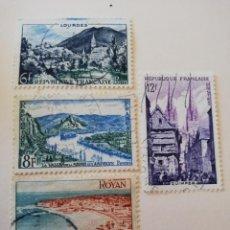 Sellos: REPUBLICA FRANCESA AÑO 1954 YT 976-77-78 Y 79. Lote 235264525