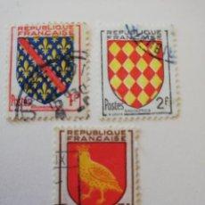 Sellos: REPUBLICA FRANCESA AÑO 1954 YT 1002-1003 Y 1004. Lote 235264990
