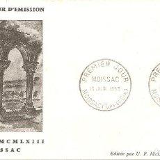 Sellos: SPD -FDC, FRANCIA, 1963, MOISSAC. Lote 235692930