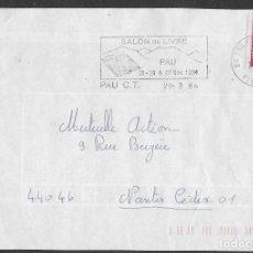 Sellos: SOBRE DE FRANCIA CON FLAMME SALON DU TIMBRE, PAU 29-9-1994, FOTO ORIGINAL. Lote 235829325