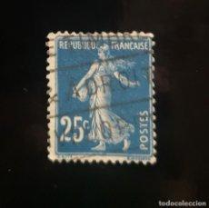 Sellos: REPUBLIQUE FRANÇAISE - 25C - POSTES - LA SEMBRADORA. Lote 239918380