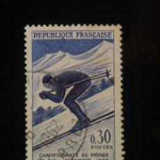 Sellos: FRANCIA 1962, CAMPEONATO MUNDIAL DE SKI, YVERT 1326. Lote 239942080