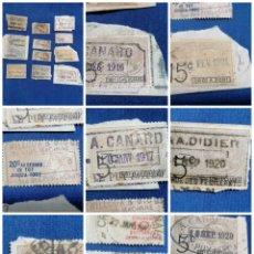 Sellos: FRANCIA LOTE SELLOS TAXAS MUY POCO HABITUAL AÑOS 1920,1915. Lote 240934645