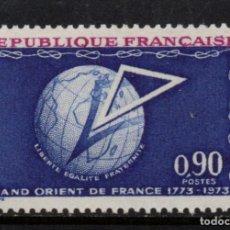 Sellos: FRANCIA 1756** - AÑO 1973 - BICENTENARIO DE LA GRAN ORDEN DE ORIENTE FRANCESA. Lote 268174194