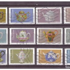 Francobolli: TETERAS FRANCIA SELLOS ADHESIVOS USADOS 2018 YVERT AD 1617 AL 1628 ART 2. Lote 246189085