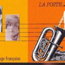 Sellos: ST-FRANCIA CARNET CRUZ ROJA. MUSICOS CELEBRES 1992 ** SIN FIJASELLOS. Lote 246602280