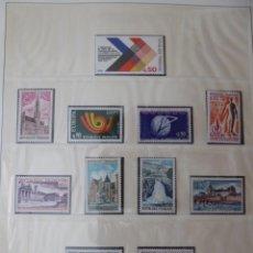 Sellos: COLECCION SELLOS DE FRANCIA AÑOS 1972 A 1980 COMPLETO EN ALBUN LINDER, FILOESTUCHES,. Lote 248029990