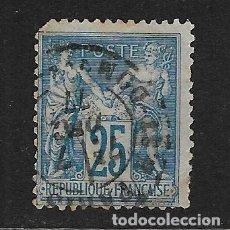 Sellos: FRANCIA - CLÁSICO. YVERT Nº 79 USADO Y MUY DEFECTUOSO. Lote 248089245