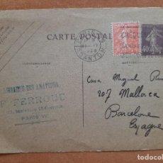 Sellos: 1928 CARTE POSTAL FRANCESA - CIRCULADA CON SELLOS. Lote 248968710