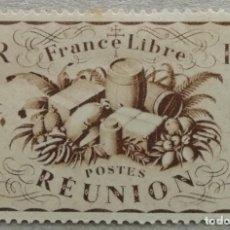 Sellos: 1943. REUNIÓN. 233. FRANCIA LIBRE. SERIE EMITIDA EN LONDRES AL LANZARSE DURANTE LA II GM. USADO.. Lote 254130150