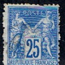 Sellos: FRANCIA // YVERT 78 SAGE TIPO I // 1876-78 ... USADO. Lote 255000975