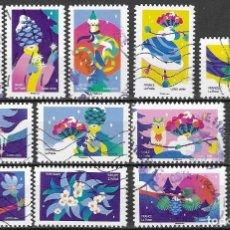 Sellos: SELLOS ADESIVOS USADOS DE FRANCIA 2020, YT 1930/ 41, FOTO ORIGINAL. Lote 255989325
