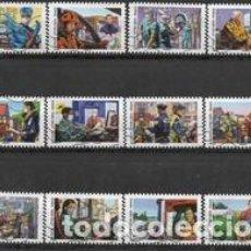 Sellos: SELLOS ADESIVOS USADOS DE FRANCIA 2020, YT 1909/ 20. Lote 255990940