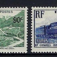 Sellos: FRANCIA 1937 Nº 339/340 **. Lote 257395350