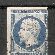 Sellos: FRANCIA.1853-60.NAPOLEÓN III. YT. 14. Lote 257808785
