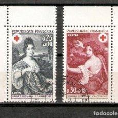 Sellos: FRANCIA.1968. YT 1580,1581. CRUZ ROJA. Lote 257812505