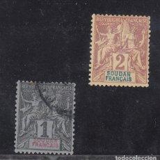 Sellos: SUDAN COLONIA FRANCESA 3/4 USADA. Lote 257872515