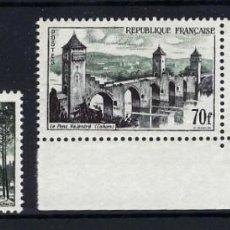 Sellos: FRANCIA 1957 Nº 1118/19 **. Lote 258253870