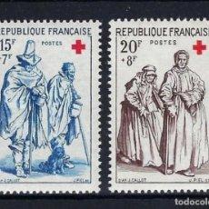 Sellos: FRANCIA 1957 Nº 1140/41 **. Lote 258256375