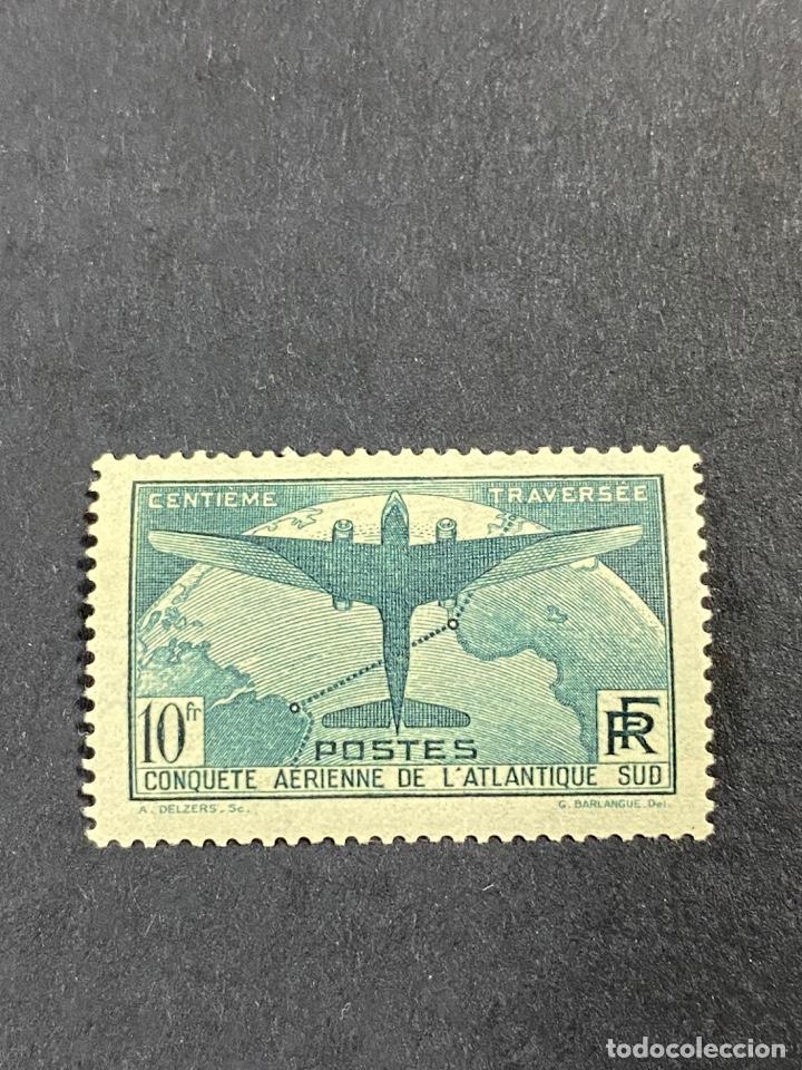 FRANCIA 1936. YVERT 321. TRAVESIA ATLÁNTICA. NUEVO CON CHARNELA. VER (Sellos - Extranjero - Europa - Francia)