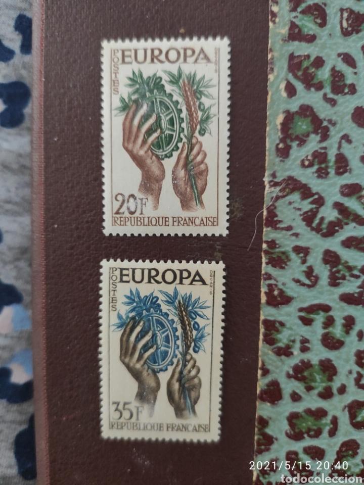 AÑO 1957, SERIE DE 2 SELLOS Nº 1122 – 23 DEL CATÁLOGO YVERT, VALOR 2.15€. (Sellos - Extranjero - Europa - Francia)