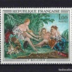 Sellos: 1970 FRANCIA YVERT 1652 ARTE, PINTURA, BOUCHER MNH** NUEVO SIN FIJASELLOS. Lote 263123310