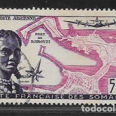Sellos: SOMALIS- FRANCESA- 500 FF. Nº 12, VER FOTO. Lote 263592520