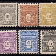 Sellos: FRANCIA 620/29** - AÑO 1944 - ARCO DEL TRIUNFO. Lote 268731839