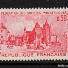 Sellos: FRANCIA 1718** - AÑO 1972 - CONGRESO DE SOCIEDADES FILATELICAS FRANCESAS, SAINT BRIEUC. Lote 268732279